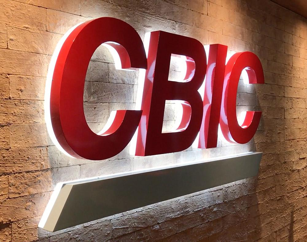 CBIC Comunicacao Visual Nova Sede Marca Iluminada